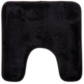 WC memoi 48x48 zwarte contourmat, donkerroze