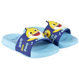 BABY SHARK - teenslippers zwembad, blauw