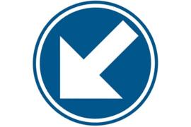 D02 Voorbij gaan aan deze zijde verkeersbord sticker