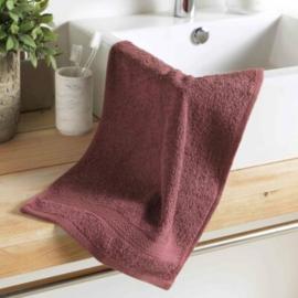 handdoek gasten, paars, 50x30x0.5, gewone spons