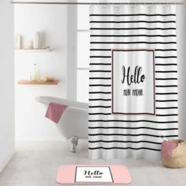 douchegordijn met haken, 180 x 200 cm, polyester bedrukt liefde