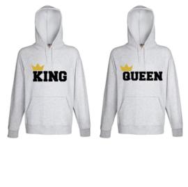 Hoodie King & Queen + Kroontje