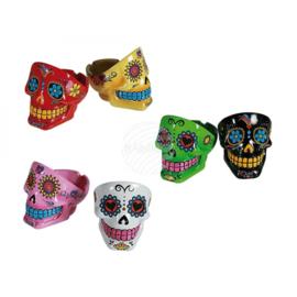 Sexy Asbak, Coloured Skull, 12 cm diverse kleuren