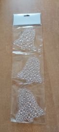 Hanger Crystal Look 10x10cm XL Klok (per 3)