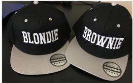 Blondie & Brownie Cap zwart/grijs
