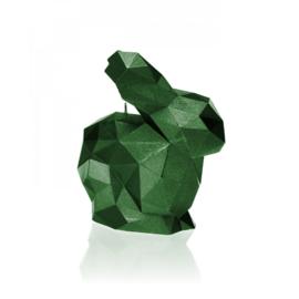 XXL konijnenkaars - groen metallic