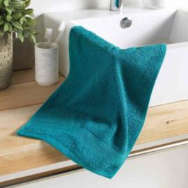 handdoek gasten, smaragd, 50x30x0,5, gewone spons, kleuren