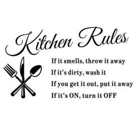 Kitchen muursticker