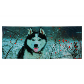 Badhanddoek Husky ontwerp 140 x 70 cm