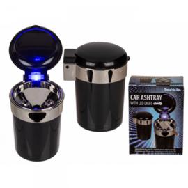 Auto-asbak met LED (inclusief accu)