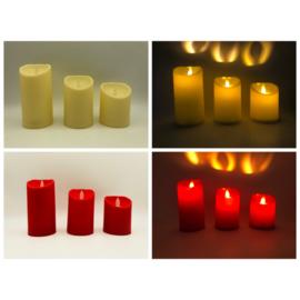 LED-kaarsen set van 3