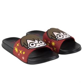 HARRY POTTER - slippers zwembad, zwart