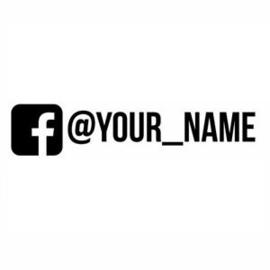 Facebook Logo + Naam