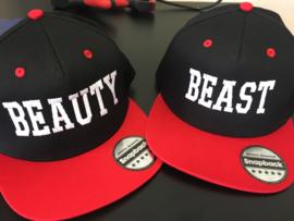 Beauty & Beast Cap zwart/rood