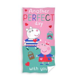 Katoen handdoek 201055 Peppa Pig voor kinderen