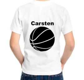 Naam + Basketball Kids Shirt