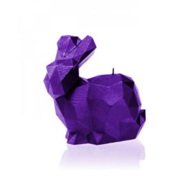 XXL konijnenkaars - metallic violet
