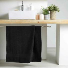 handdoek badkamer zwart 130x70x0.5