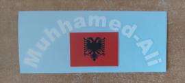 Albanese Vlag + Naam in boog