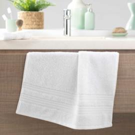 handdoek toilet, wit, 50x90x0,5, spons