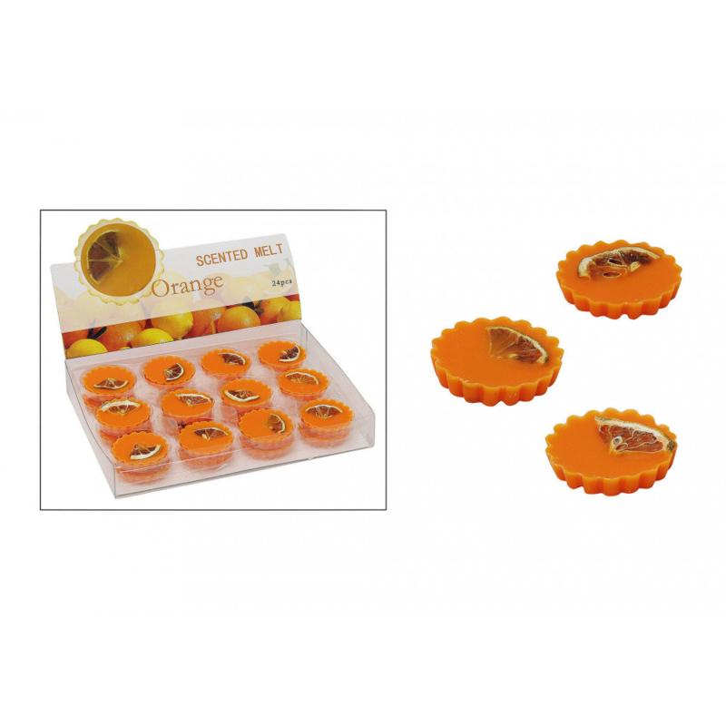 Geurige wax oranje voor oliebranders