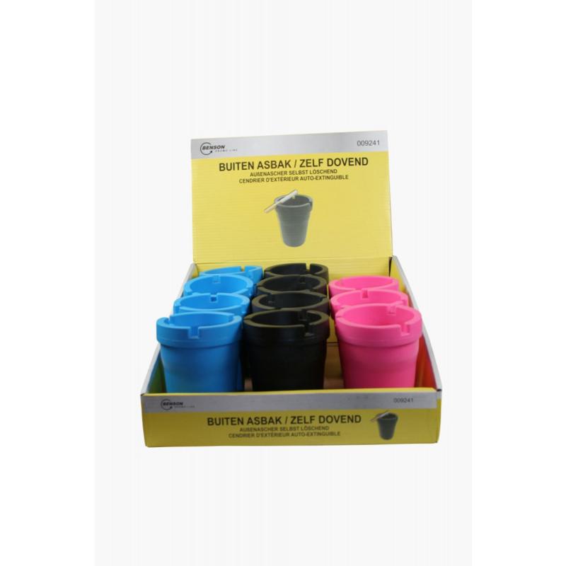 Benson Asbak diverse kleuren (per 12)