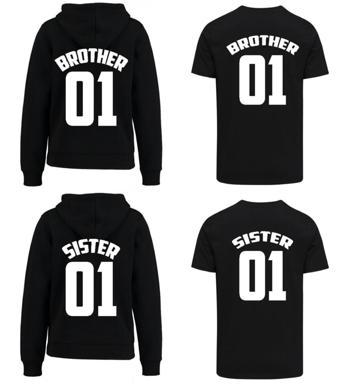 Shirt + Hoodie Brother & Sister