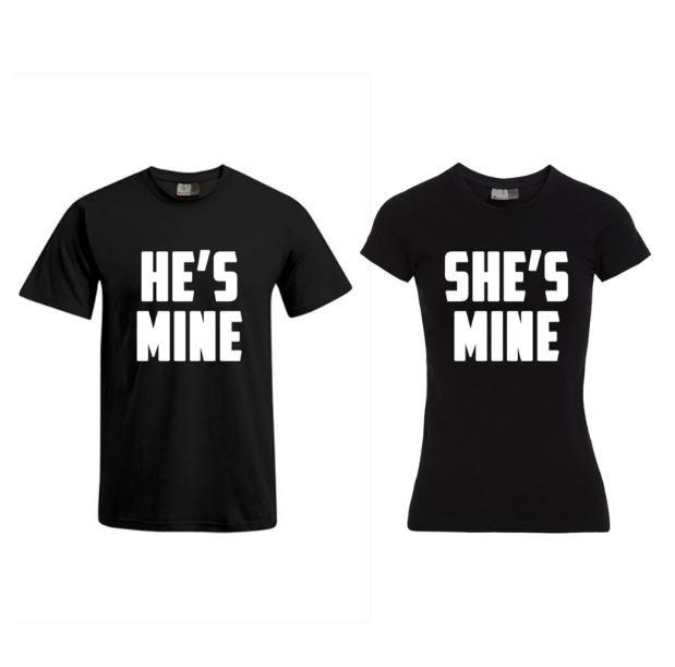 T-shirt He's Mine & She's mine