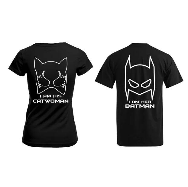 T-shirt Batman & Catwoman
