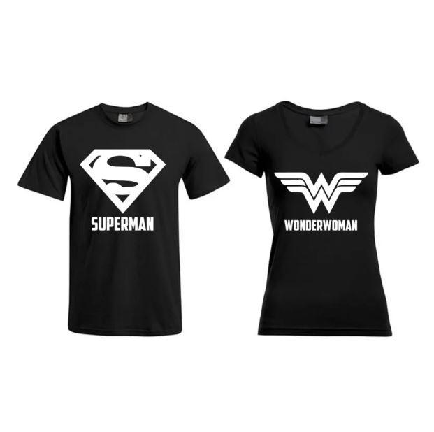 T-shirt Superman & Superwoman