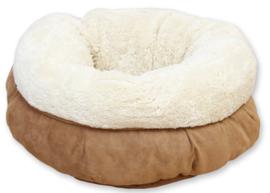 AFP lambswool donut bed tan beige