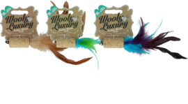 Wooly Luxury Feather Dream Cork Green