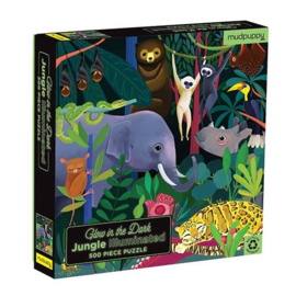 Mudpuppy Glow In The Dark Puzzel Jungle - 500 stukjes