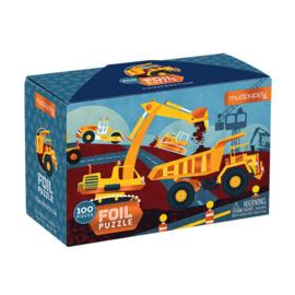 Mudpuppy Folie Puzzel Werkvoertuigen - 100 stukjes
