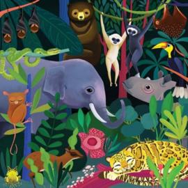 Mudpuppy Glow In The Dark Puzzel Jungle - 500 stukjes