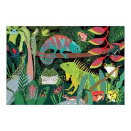 Mudpuppy Glow In The Dark Puzzel Frogs & Lizards - 100 stukjes