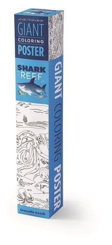 Crocodile Creek Giant Coloring Poster Shark Reef