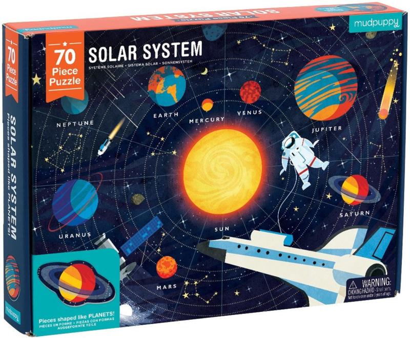 Mudpuppy Puzzel Geography Solar System - 70 stukjes