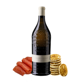 Ambachtelijk gerookte zalm 1 kg + Michael David Chardonnay | Pakket