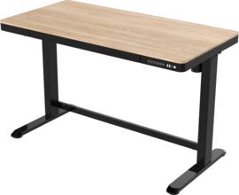 Compact elo zit-sta bureau kunststof blad (zwart/eiken)