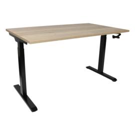 Slinger verstelbaar zit-sta bureau zwart met blad