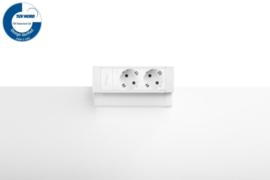 Power Desk Up® 2.0 - 2x 230V - Wit