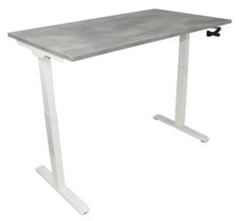 Slinger verstelbaar zit-sta bureau wit met blad