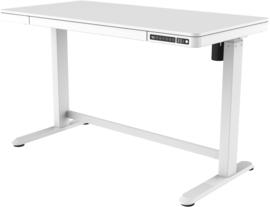 Compact elo zit-sta bureau kunststof blad (wit)