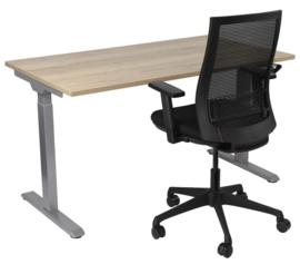 Slinger verstelbaar zit-sta bureau grijs met blad
