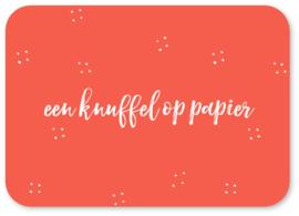 Kaart - Een knuffel op papier