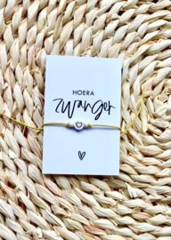 Armbandje LITTLE HEART Gold - met kaartje