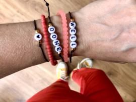 Armbandenset Well done (5 armbandjes)