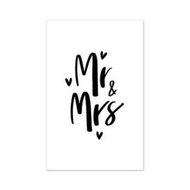 Minikaartje Mr & Mrs