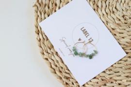 Oorbel RVS - natuursteen Ocean Green